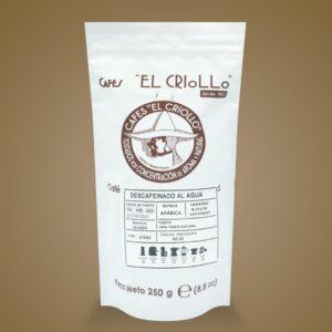 descafeinado al agua cafe cafes el criollo