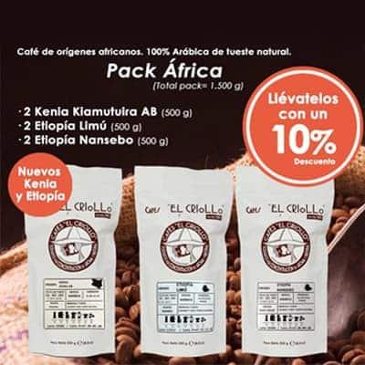 Cafe pack de africa el criollo
