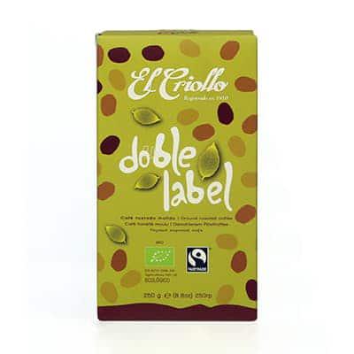 doble label cafe comercio justo
